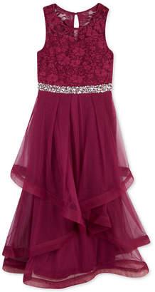 Speechless Big Girls Plus Glitter Lace Maxi Dress, a Macy Exclusive Style