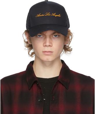 Amiri Black Trucker Hat