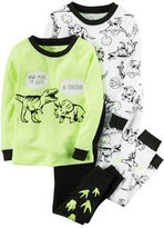 Carter's 4-Piece Snug Fit Neon PJs