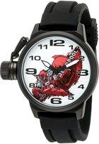 Marvel Men's 'Deadpool' Quartz Metal and Rubber Automatic Watch, Color: (Model: W002850)