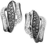 Macy's 14k White Gold Earrings, Black and White Diamond (3/4 ct. t.w.)