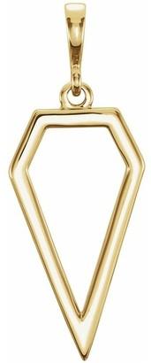 Diamond2deal 14k Yellow Gold Geometric Pendant