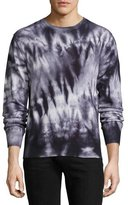 Ovadia & Sons Cashmere Tie-Dye Crewneck Sweater, Black
