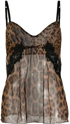 Dolce & Gabbana Leopard Print Camisole