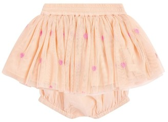 Stella McCartney Tulle Heart-Print Skirt with Bloomers