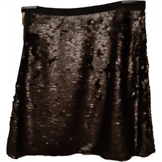 Elisabetta Franchi Black Glitter Skirt for Women