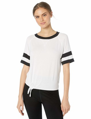 Body Glove Active Women's Ulani Short Sleeve Activewear Top with Front Tie Detail