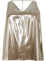 River Island Womens Plus gold T-bar cami top