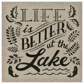 "Thirstystone Life Is Better At The Lake"" Individual Coaster"