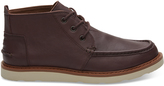 Toms Oxblood Leather Men's Chukka Boots