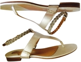 Salvatore Ferragamo Silver Leather Sandals