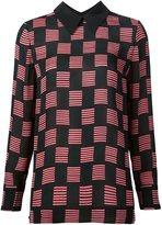 Marni striped square print blouse