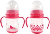Luvable Friends Pink 6-Oz. Training Bottle - Set of Two