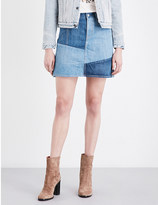 Levi's Patchwork denim skirt