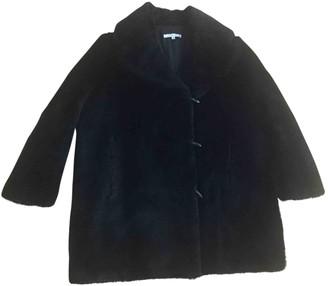 Carven Black Faux fur Coats