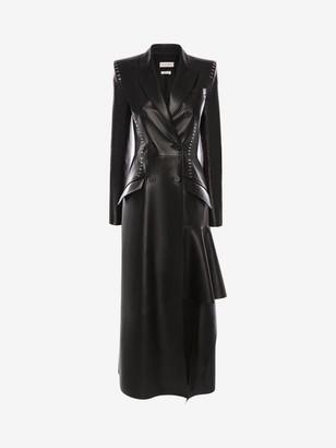Alexander McQueen Stapled Leather Coat