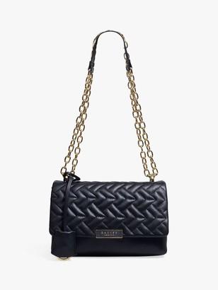 Radley Mill Bay Geo Leather Cross Body Bag, Black