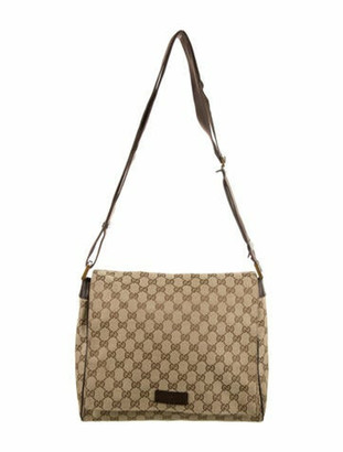 Gucci GG Canvas Messenger Bag Brown