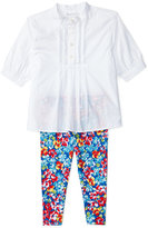 Ralph Lauren Banded-Collar Shirt & Floral-Print Pants Set, Baby Girls (0-24 months)