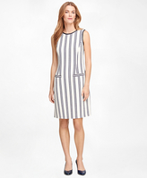 Brooks Brothers Sleeveless Vertical Stripe Dress