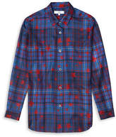 Tommy Hilfiger Tommy x Gigi Plaid Silk Twill Shirt