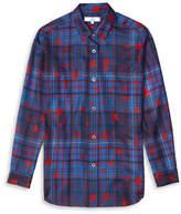 Tommy Hilfiger Tommy x Gigi Star-Plaid Silk Shirt
