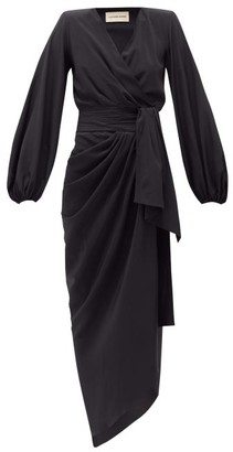 Alexandre Vauthier Tie-waist Silk-blend Crepe Dress - Womens - Black