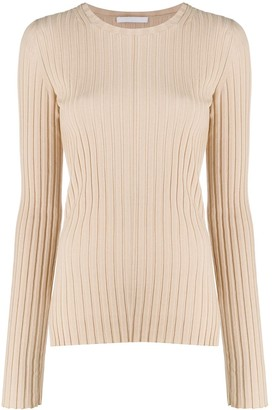 Helmut Lang Ribbed-Knit Crew Neck Top