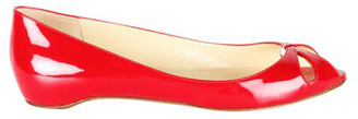 Christian Louboutin Red Patent Leather Teresa Ballerinas Size 36.5