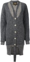 Vivienne Westwood strap detail cardi-coat