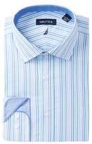 Nautica Striped Classic Fit Dress Shirt