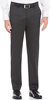 Murano Manhattan Collection Alex Modern Slim Fit Flat-Front Pinstripe Pants