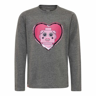 Lego Wear Girls' cm Wendepailletten Longsleeve T-Shirt