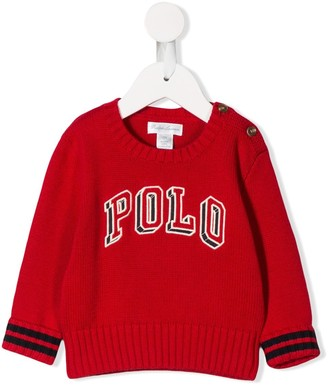 Ralph Lauren Kids Knitted Logo Sweatshirt