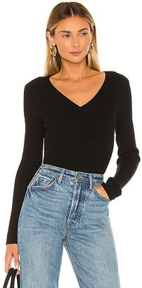 525 Wide V Neck Pullover Sweater