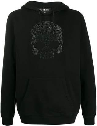 Hydrogen rhinestone skull hoodie