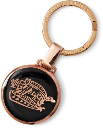 Kingsman + Deakin & Francis Rose Gold-Plated And Enamel Key Fob