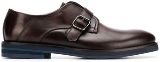 Etro Single Buckle Strap Monk Shoes