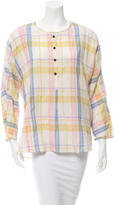 Creatures of Comfort Plaid Long Sleeve Top w/ Tags
