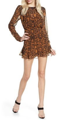 Finders Keepers The Label Lana Snake Mini Dress