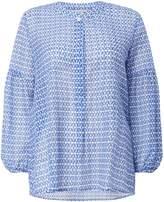 Marella Premio tile print sheer blouse
