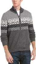 Brooks Brothers Fairisle Wool-Blend Zippered Sweater