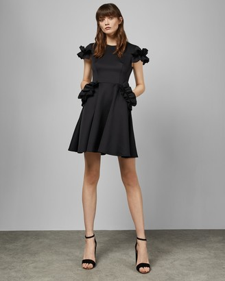 Ted Baker LUUCIEE Ruffle detail skater dress