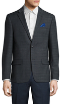 Ben Sherman Wool Checkered Notch Lapel Sportcoat