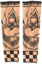 DSQUARED2 fingerless pattern gloves - men - Polyamide/Spandex/Elastane - One Size