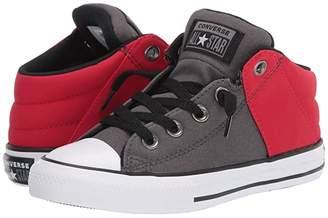 Converse Chuck Taylor(r) All Star(r) Axel Mid (Little Kid/Big Kid) (Carbon Grey/Enamel Red) Boy's Shoes