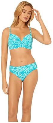 Bleu Rod Beattie Make Waves Sarong Hipster Bottoms (Laguna Teal) Women's Swimwear
