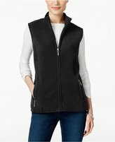 Karen Scott Fleece Zip-Front Vest, Only at Macy's