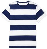 Orlebar Brown Sammy Striped Slub Cotton-jersey T-shirt - Navy