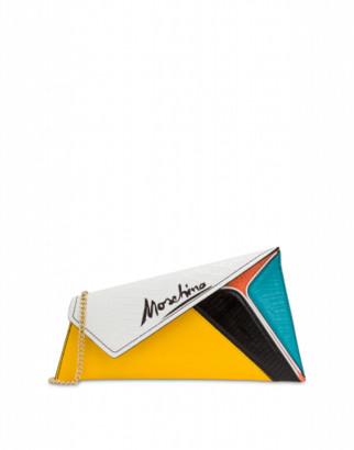 Moschino Slice Maxi Clutch Woman Multicoloured Size U It - (one Size Us)